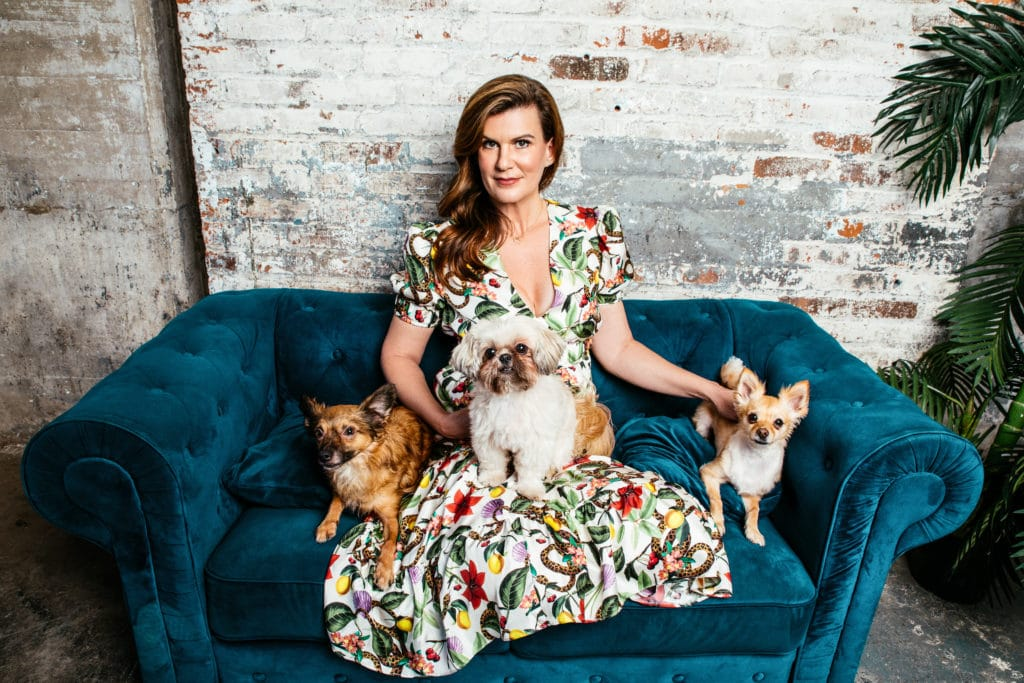 Angela Ardolino with George, Blanche and Theo (1)